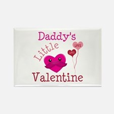 Daddy's Little Valentine Rectangle Magnet