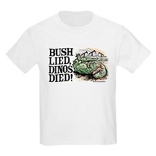 Bush Lied, Dinosaurs Died T-Shirt