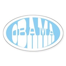 OBAMA VINTAGE Oval Decal