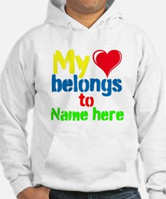 Personalizable,My Heart Belongs To Hoodie
