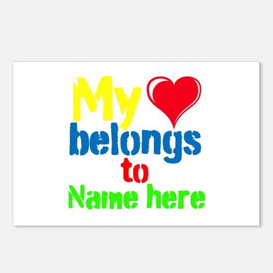 Personalizable,My Heart Belongs To Postcards (Pack