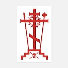 Orthodox Schema Cross Rectangle Decal