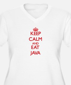 Keep calm and eat Java Plus Size T-Shirt
