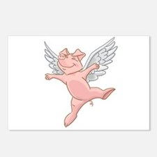 Flying Pig Postcards (package Of 8)