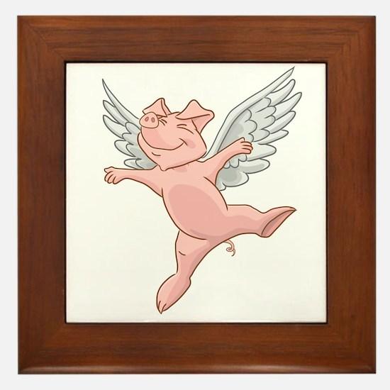 Flying Pig Framed Tile