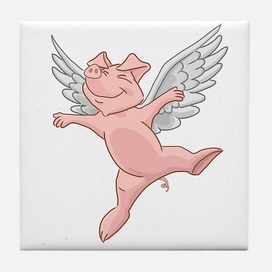 Flying Pig Tile Coaster