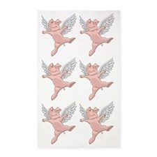 Flying Pig 3'X5' Area Rug