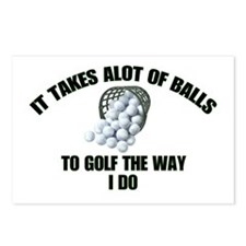 Golf - Alot of Balls Postcards (Package of 8)