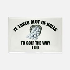 Golf - Alot of Balls Rectangle Magnet