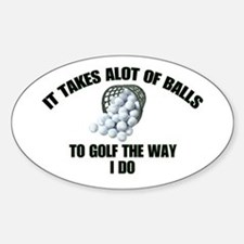 Golf - Alot of Balls Oval Decal