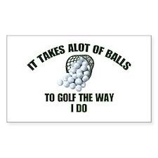 Golf - Alot of Balls Rectangle Decal