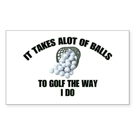 Golf - Alot of Balls Rectangle Sticker