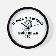 Golf - Alot of Balls Wall Clock