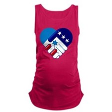 Israel and America Maternity Tank Top