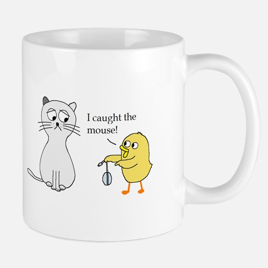I caught the mouse! Mugs