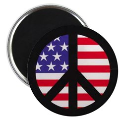 Peace Sign - Flag Magnet