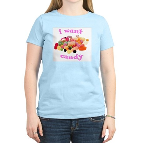 I Want Candy Women's Pink T-Shirt