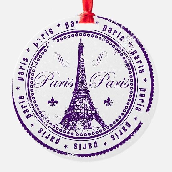 Paris France Stamp Ornament