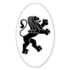Lion Symbol Oval Decal