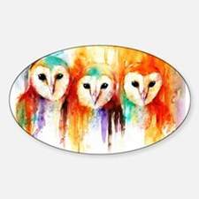Row of Owl Decal
