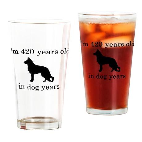 60 birthday dog years german shepherd black Drinki