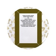 "gold hearts crown tiara 3.5"" Button"