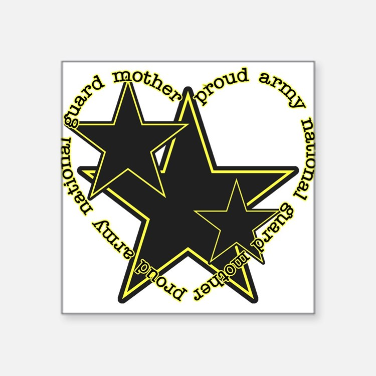 Proud Guard Mom Rectangle Sticker
