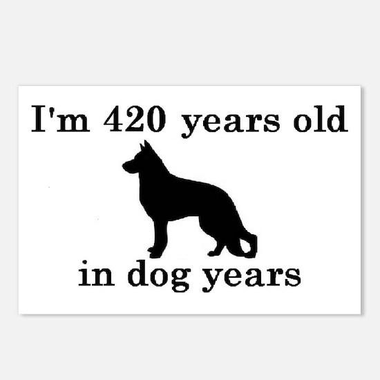 60 birthday dog years german shepherd black 2 Post