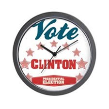 Vote Clinton Presidential Election Wall Clock