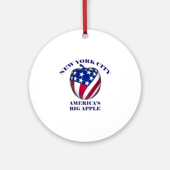 America's Big Apple Ornament (Round)