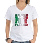 Long Island Italian Women's V-Neck T-Shirt
