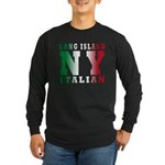 Long Island Italian Long Sleeve Dark T-Shirt