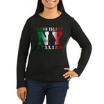 Long Island Italian Women's Long Sleeve Dark T-Shi