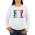 Long Island Italian Women's Long Sleeve T-Shirt