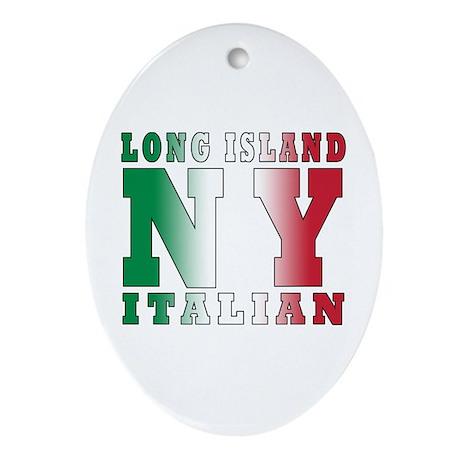 Long Island Italian Oval Ornament