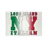 Long Island Italian Rectangle Magnet (100 pack)