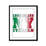 Long Island Italian Framed Panel Print