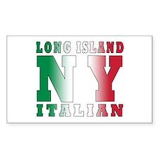 Long Island Italian Rectangle Decal