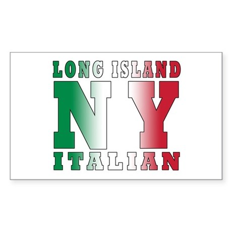 Long Island Italian Rectangle Sticker