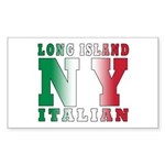 Long Island Italian Rectangle Sticker