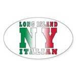 Long Island Italian Oval Sticker
