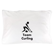 Team Curling Black Pillow Case
