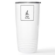 Team Curling Black Travel Mug