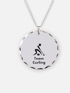Team Curling Black Necklace