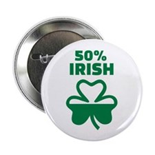 "50% Irish shamrock 2.25"" Button (10 pack)"