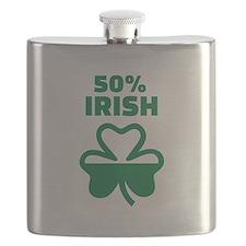 50% Irish shamrock Flask