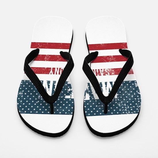 Made in Saint Anthony, Iowa Flip Flops