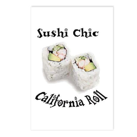 Sushi Chic California Roll Postcards (8)