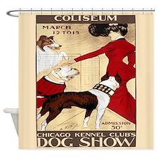 Vintage Dog Show Shower Curtain