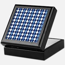 UNC Carolina Blue Basketball Argyle Keepsake Box